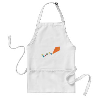Orange Kite Long Fancy Tail Standard Apron