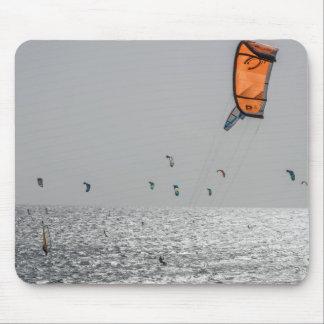 Orange kite surf mousepad