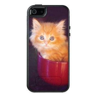Orange Kitten In A Red Mug OtterBox iPhone 5/5s/SE Case