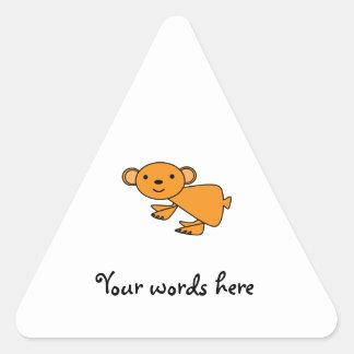 Orange koala triangle stickers
