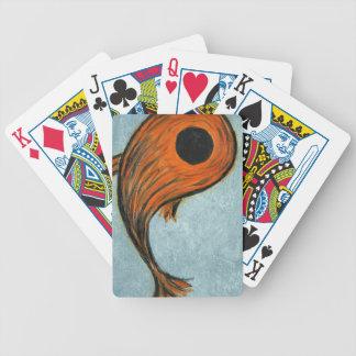 orange koi bicycle playing cards