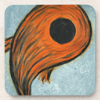 orange koi coaster