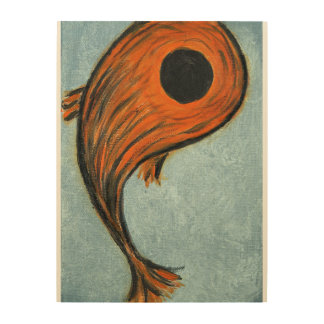 orange koi fish wood wall decor
