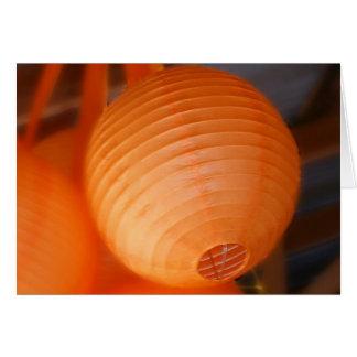 Orange Lantern Card