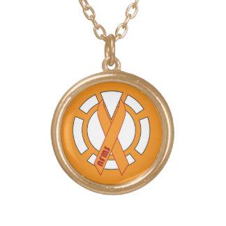 Orange Lantern Gold Necklace