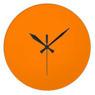 Orange Large Clock