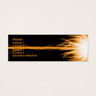 Orange Laser Mini Business Card