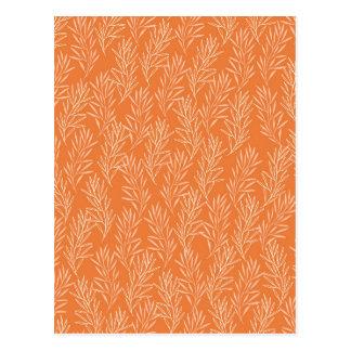 Orange Laurel Background Postcard