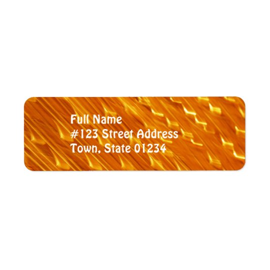 Orange Lava Mailing Labels