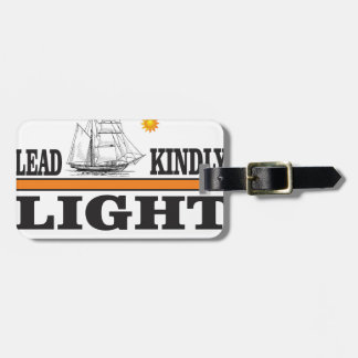 orange lead kindly light luggage tag
