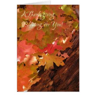 Orange Leaf (1) Thanksgiving Card