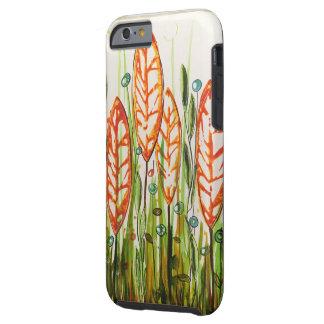 Orange Leaf Forest Tough iPhone 6 Case