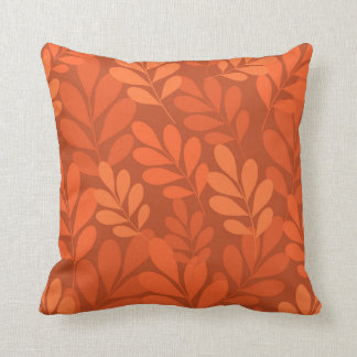 Orange leaf pillow