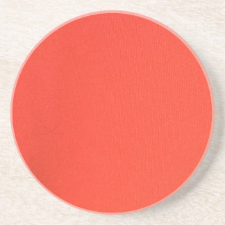 Orange Leather texture pattern background template Beverage Coasters