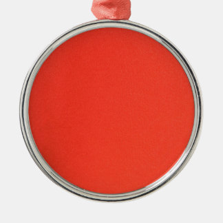Orange Leather texture pattern background template Silver-Colored Round Ornament