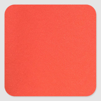 Orange Leather texture pattern background template Square Sticker