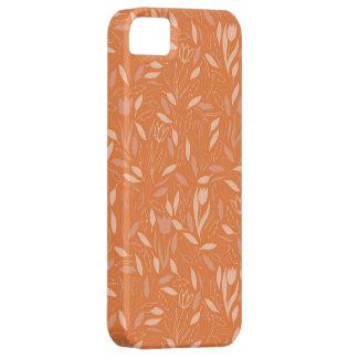 Orange Leaves Flower Pattern iPhone 5 Covers