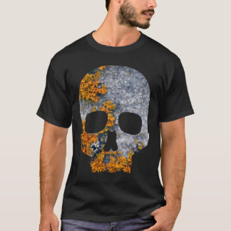 orange lichen granite skull T-Shirt