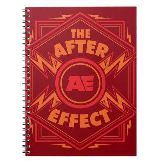 Orange Lightning Sprial Notebook