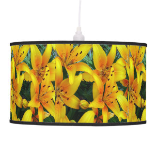 orange lilies pendant lamp