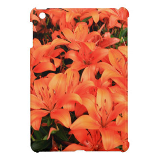 Orange liliums in bloom iPad mini cover