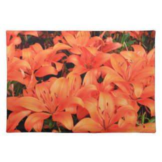 Orange liliums in bloom placemat