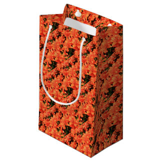 Orange liliums in bloom small gift bag