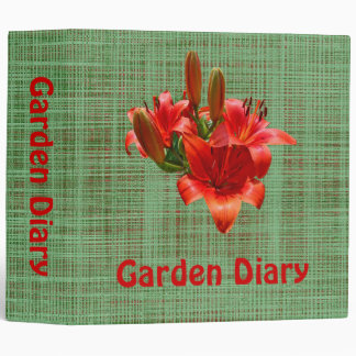 Orange Lily Blossoms Binders