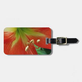 orange lily luggage tag