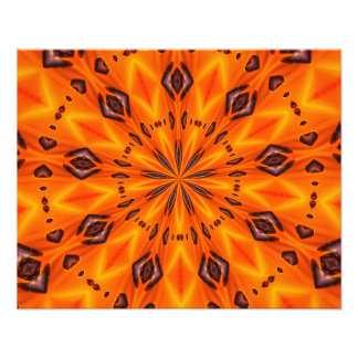 Orange Lily Medallion Photo Art