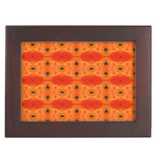 Orange Lily Pattern Memory Box