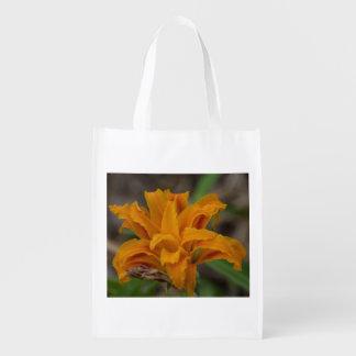 Orange Lily Reusable Bag