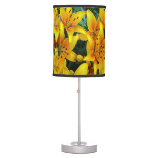 Orange Lily's Table Lamp