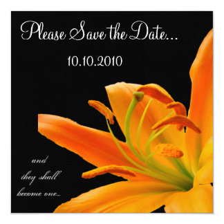 Orange Lily Save-the-date Card