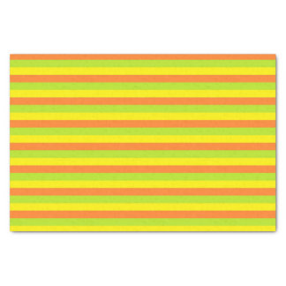 Orange, Lime Green and Yellow Stripes Tissue Paper