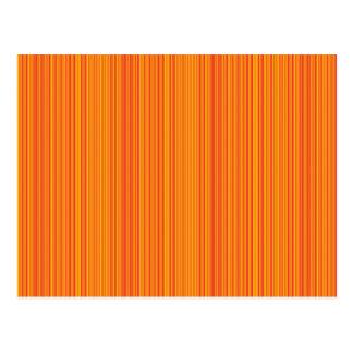 Orange lines postcard