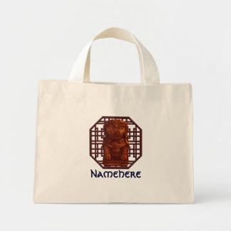 Orange Lion Dog Pixel Art Mini Tote Bag