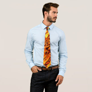 Orange liquid effect tie