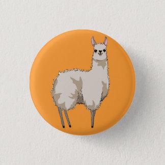 Orange Llama Badge 1 Inch Round Button