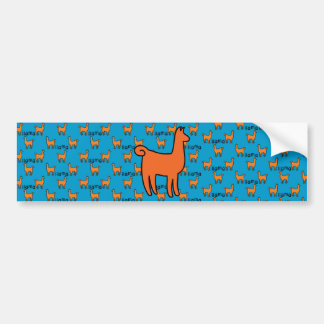 Orange Llamas Bumper Sticker
