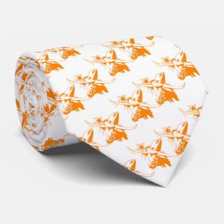 Orange Longhorn Steer with Cowboy Hat Tie