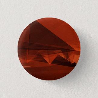 Orange Low Poly Background Design Artistic Pattern 1 Inch Round Button
