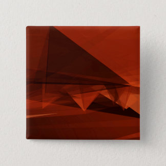 Orange Low Poly Background Design Artistic Pattern 2 Inch Square Button