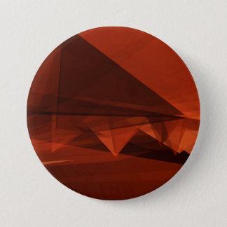 Orange Low Poly Background Design Artistic Pattern 3 Inch Round Button