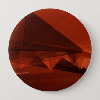 Orange Low Poly Background Design Artistic Pattern 4 Inch Round Button
