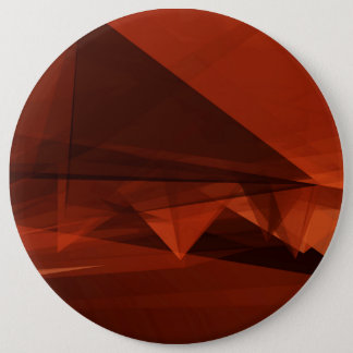 Orange Low Poly Background Design Artistic Pattern 6 Inch Round Button