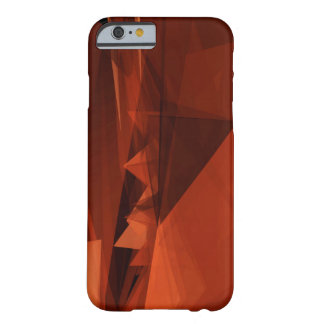 Orange Low Poly Background Design Artistic Pattern Barely There iPhone 6 Case