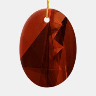 Orange Low Poly Background Design Artistic Pattern Ceramic Ornament