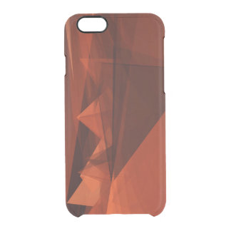 Orange Low Poly Background Design Artistic Pattern Clear iPhone 6/6S Case