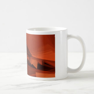 Orange Low Poly Background Design Artistic Pattern Coffee Mug